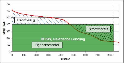 Analyse der Stromverteilung/nutzung beim Einsatz eines BHKW im Staatsbad