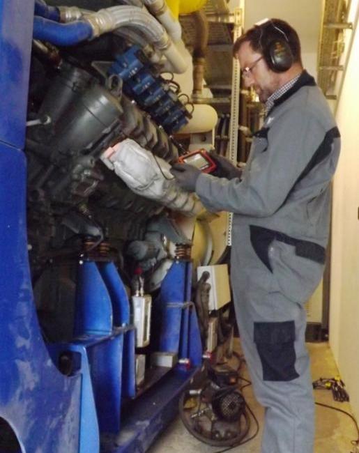 Brennraumendoskopie mit einem Videoendoskop
